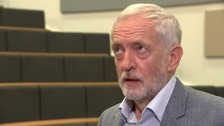 Corbyn left visibly frustrated by 'wreath laying' questions