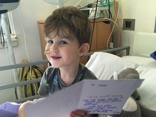 Theo is now on the road to recovery