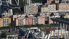 Italian motorway bridge collapse kills 'at least 35'