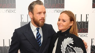 Alasdhair Willis and Stella McCartney, who won the best designer award