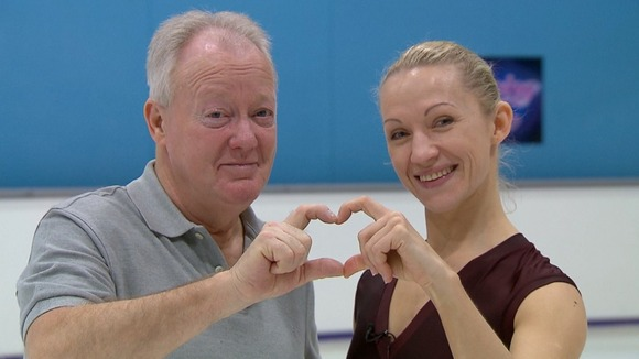 Keith Chegwin and Dancing on Ice partner Olga Sharutenko