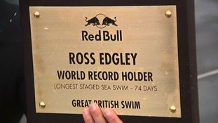 Ross has broken a world record so far on his journey but has a long way to go.