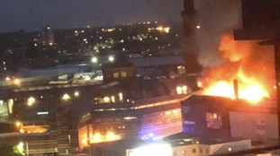 Large mill fire breaks out close to Strangeways Prison