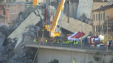 Search for survivors in Italian motorway bridge collapse