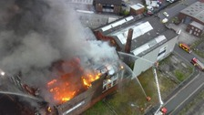 Major mill fire breaks out close to Manchester's Strangeways Prison