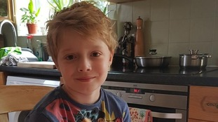 Eight-year-old boy Luis Walker has cystic fibrosis.