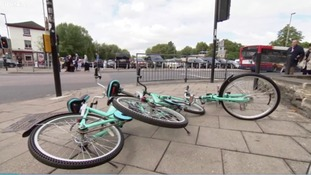 Calls for dockless bike users to stop dumping them across city