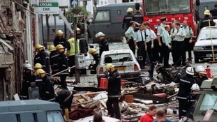 The scene of the 1998 Omagh bombing.
