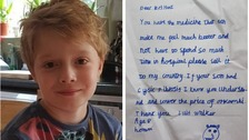 Watch eight-year-old boy's powerful plea to drug company
