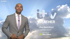Alex Beresford has the latest weather