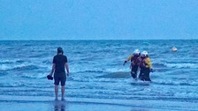 Late night swimmers rescued under Brighton Pier