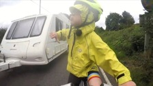 Cycling family give a 'thumbs down' to near-miss drivers