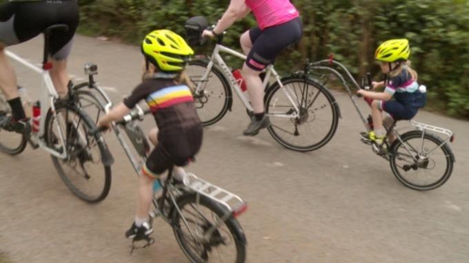 Jones family cyclists