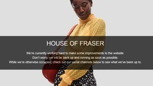 House of Fraser website goes offline amid 'delivery wrangle'