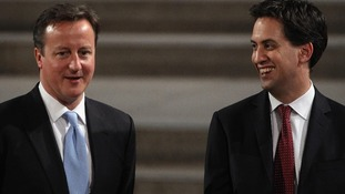 Prime Minister David Cameron and Labour Party leader Ed Miliband.