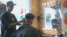 Barber encourages customers to talk about mental health