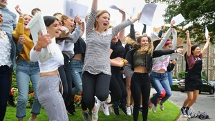 Students in East Sussex with A-level results