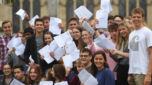 Pupils celebrate their A Level results at Norwich School