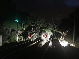 The incident happened on Wednesday night (Network Rail/PA)