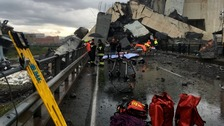 Fears 20 people still missing in Italian bridge rubble