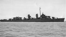 Wreckage of World War II US destroyer found 70 years on
