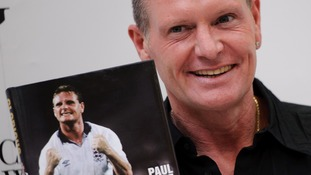 Paul Gascoigne pictured in 2011 at the launch of his book.