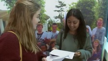 Students describe their joy after receiving A-level results