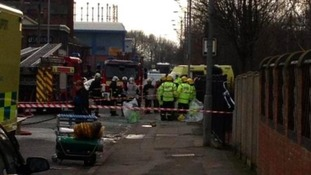 Police, fire and ambulance crews are attending the scene