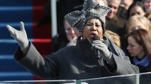 Franklin performs at Barack Obama's 2009 inauguration.
