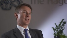 Hunt sets out his ambitions in exclusive ITV News interview