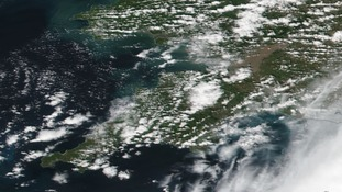 Satellite pic of cloud over the west country