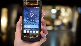 The new Black PVD Titanium Red Gold and Mixed Metals Vertu Ti smartphone, which retails for £14,200.