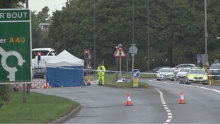 Forensic tent on A40