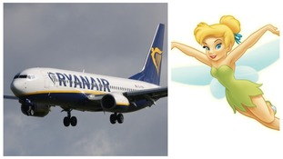 A man 'dressed as Tinkerbell' was removed from the Ryanair flight