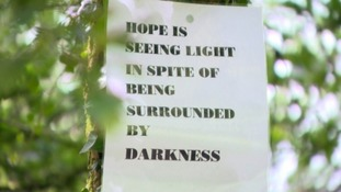 Youths post messages of hope on Cavehill