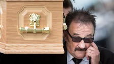 Barry Chuckle's comedy friends join friends and family at funeral