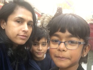 Jeeja Matthews and her children cannot get back home to the UK.