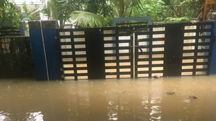 Hundreds of people in the state of Kerala have died in the flooding.