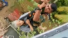 Dramatic rescues as India's worst flooding in century kills hundreds