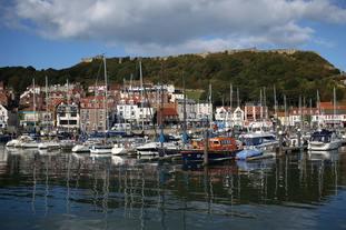 The harbour in Scarborough