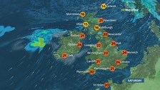 Weather: Drizzle in the west, sunny spells in the east