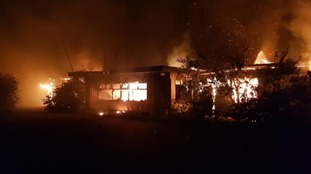 Dozens of firefighters tackle blaze at former Pontins camp