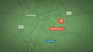The victim was assaulted outside The Brook pub in Cambridge