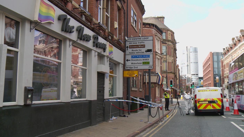 man in hospital after stabbing in leeds city centre. Black Bedroom Furniture Sets. Home Design Ideas