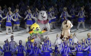 The official games mascots during the opening ceremony