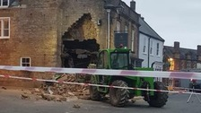 Stolen tractor used to steal cash machine in Beaminster