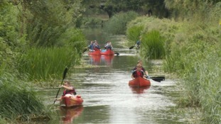 Kayakers on the canal