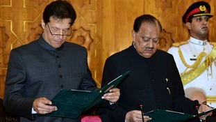 Former cricketer Imran Khan sworn in as Pakistan's new prime minister