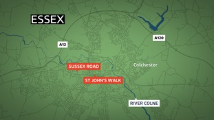 Police are linking two incidents in Colchester overnight