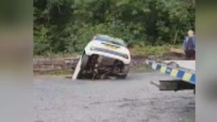 Woman's car swallowed by sinkhole at Craig-Y-Nos Castle car park near Swansea